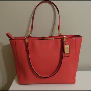 Coach 29002 Madison Tote Bag in Coral Pink Leather